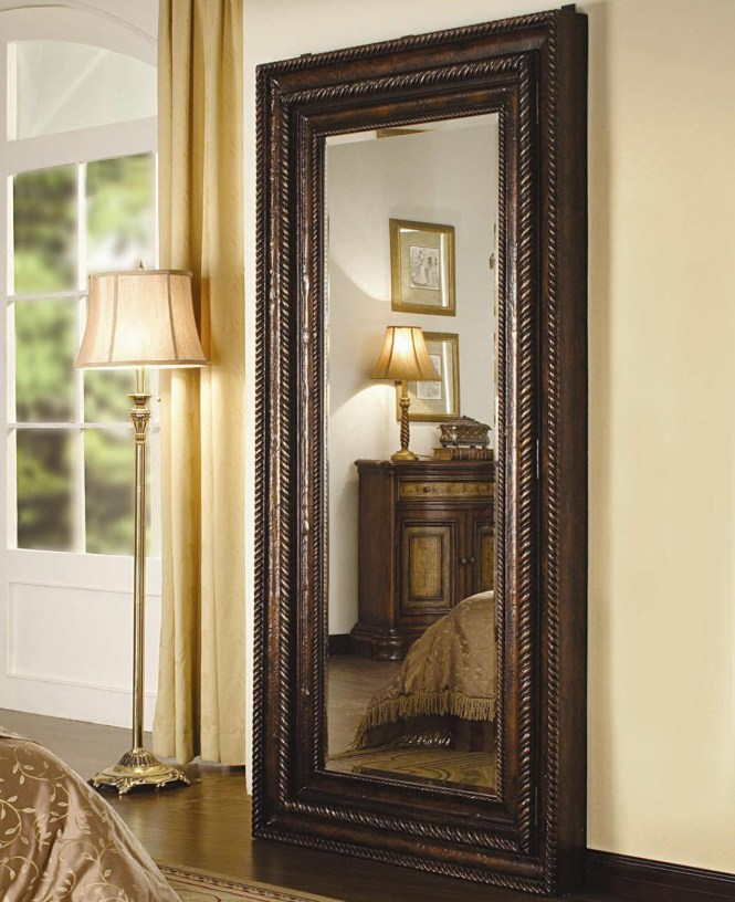 Wall Mirror With Ornate Carved Wood Frame