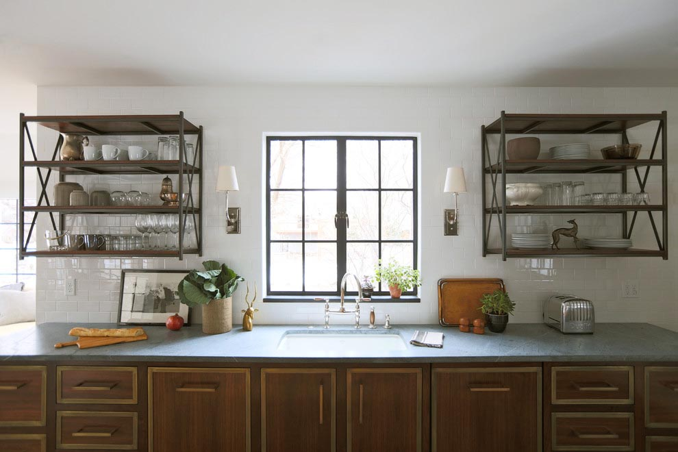 Metal Wall Shelves Kitchen Best Decor Things