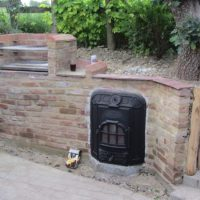 French Stove and Reclaimed Bricks