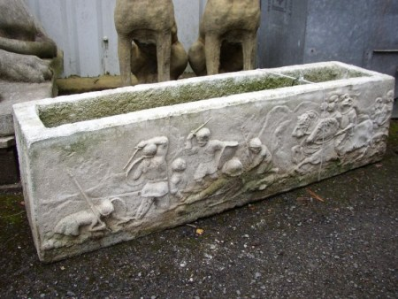 Italian Stone Trough Fighting Scene
