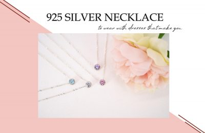 925 silver necklace to wear with different outfits