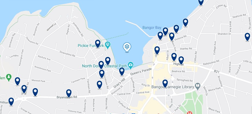 Accommodation near Bangor Marina Click on the map to see all the accommodation in this area