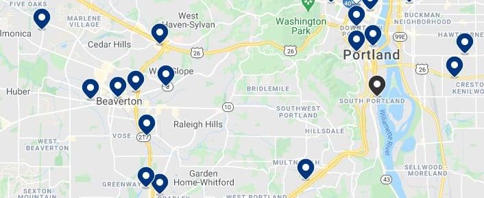Alojamiento en Southwest Portland - Haz clic para ver todo el alojamiento disponible en esta zona