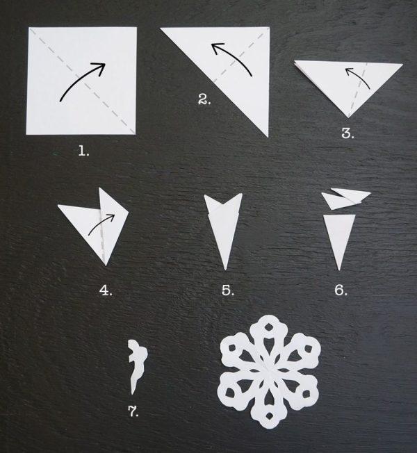 Как сделать снежинку из бумаги, шаблоны снежинок | Лучшие ...