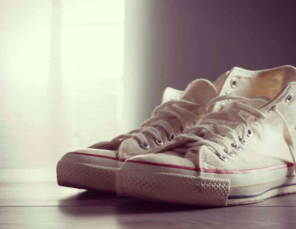 White Converse All Stars sneakers