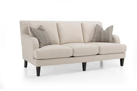 Picture of beige sofa with pillows