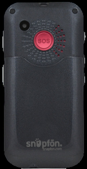 Snapfon ezTWO as seen from the rear