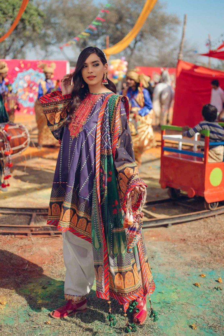 Afsaneh Unstitch Lawn Festive Collection 2019