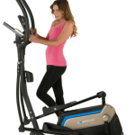 woman wearing pink on Exerpeutic Aero Air Elliptical