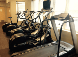 elliptical trainer in home gym
