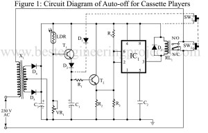 circuit diagram of auto off for cassette player