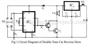 circuit diagram of double tone car reverse horn