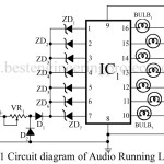 Audio Running Lights | Circuit Diagram