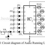 Audio Running Lights | Circuit Diagram
