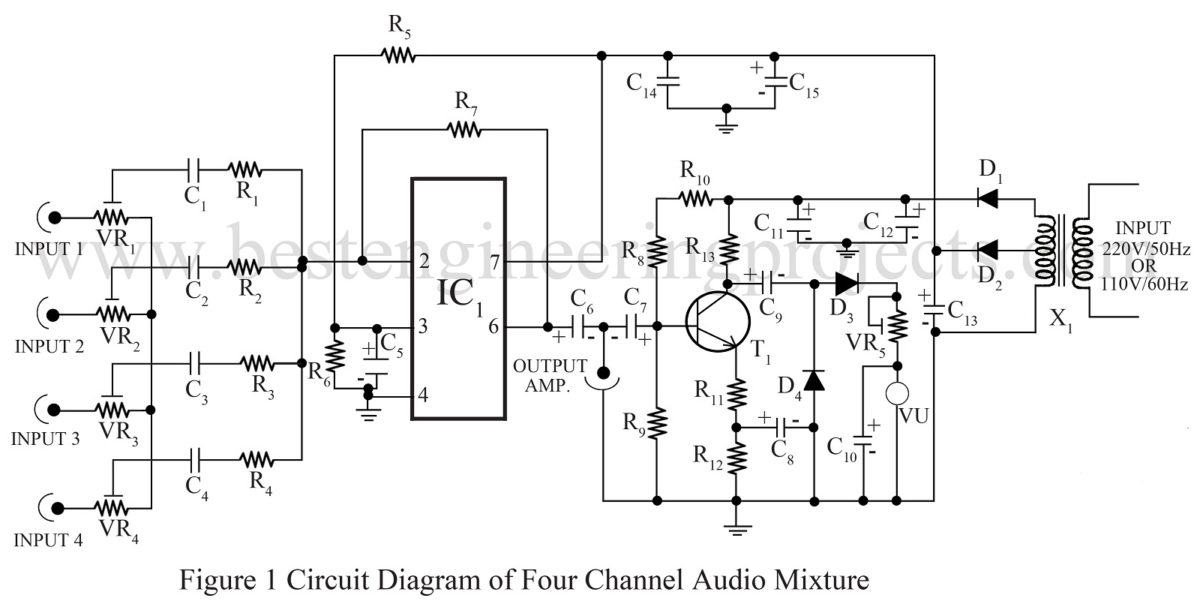 Simple Audio Mixer Circuit Diagram 34 Wiring Images Of Four Channel Mixtureresize16002c801