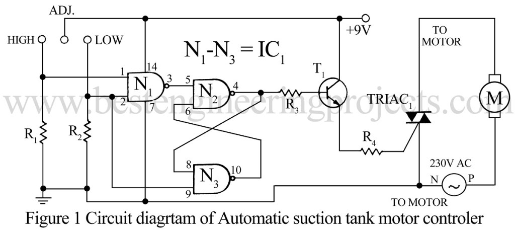 circuit diagram automatic suction tank motor controller