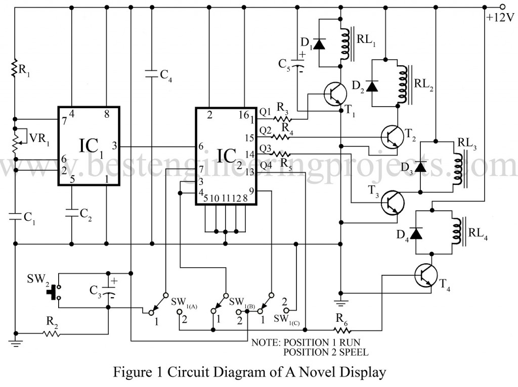circuit diagram of a novel display