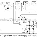 Stabilized Power Supply With Short-Circuit Indication