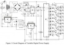 circuit diagram of variable digital power supply