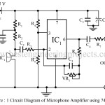 Microphone Amplifier Using Op-amp 741
