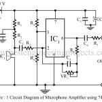 Microphone Amplifier Using Op-amp 741