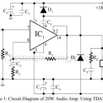 20W Audio Amplifier Using TDA2020