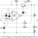 Adjustable Ripple-Regulated Power Supply Using 741