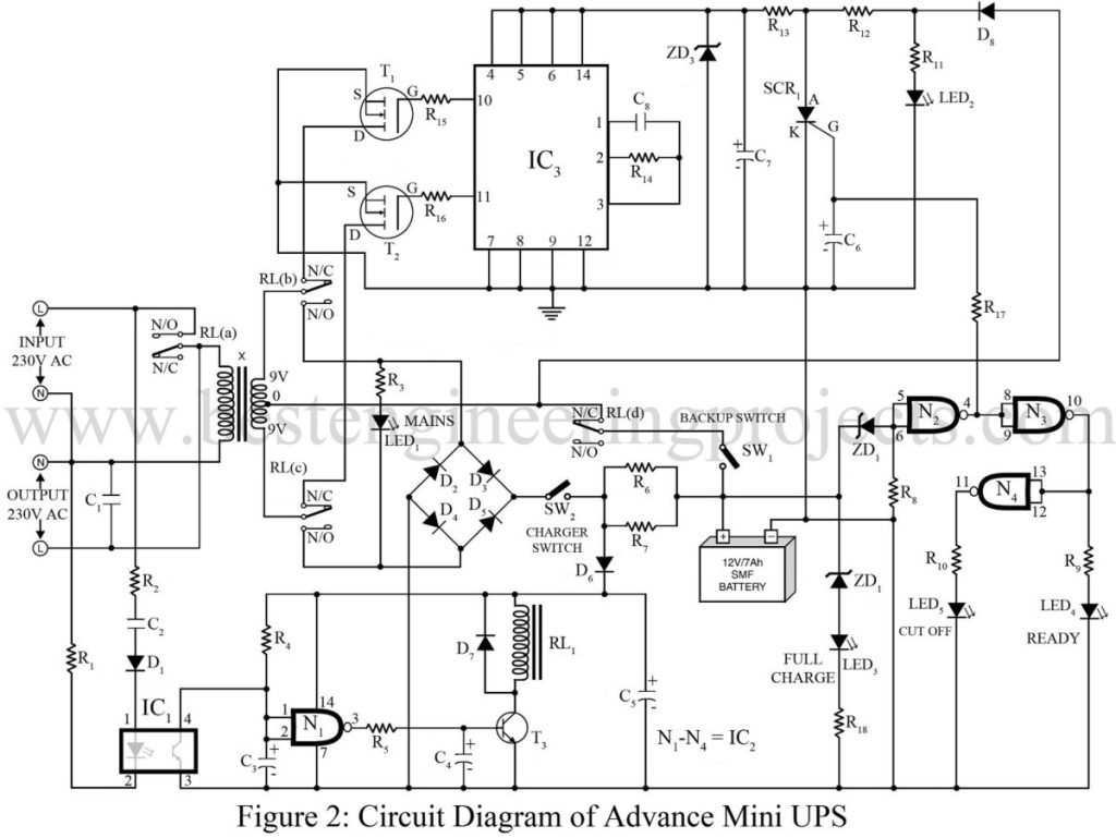 Advance Mini Ups Circuit Diagram Description Best