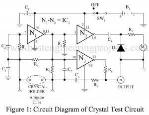 circuit diagram of cristal test circuit