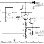 Sort Circuit Protected Regulated Power Supply Using 741
