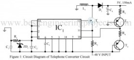 circuit diagram of telephone converter circuit
