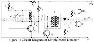 circuit diagram of simple metal detector