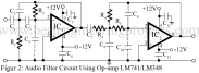 audio filter circuit using lm741