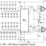 8W + 8W Stereo Amplifier Circuit with Graphic Equalisers