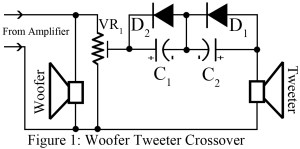 circuit diagram of woofer tweeter crossover