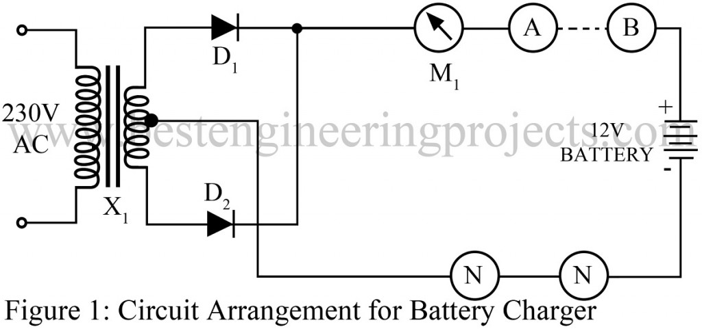 12 V Battery Charger with overcharge and deep-discharge
