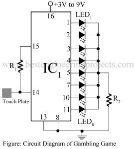 circuit diagram of electronic gambling game circuit