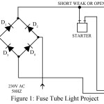 Fuse Tube Light as Night Lamp