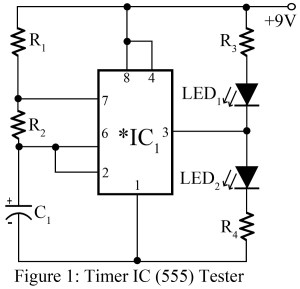 circuit diagram of 555 ic tester