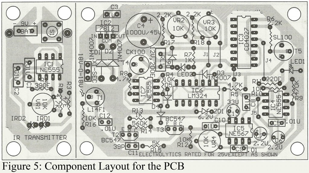 components layout of pcb