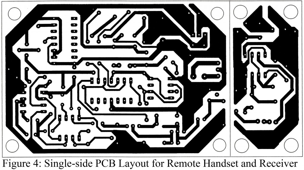 single-side combined pcb layout for the remote