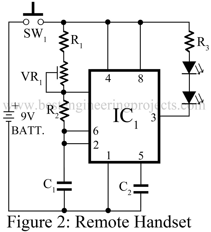 transmitter circuit of load protected