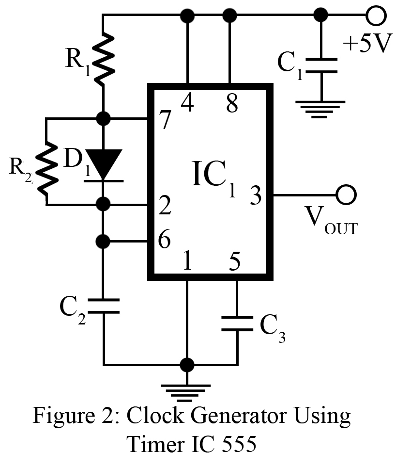 clock generator using timer ic 555
