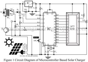 circuit diagram of microcontroller based solar charger