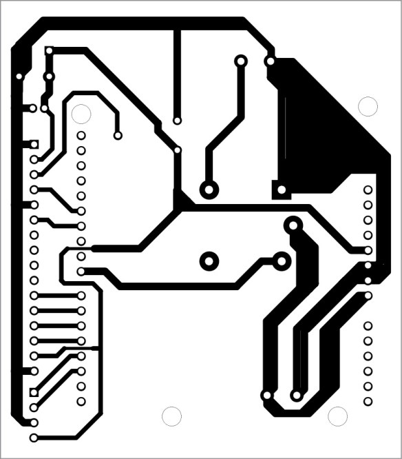 solder side pcb of fingerprint scanner lock