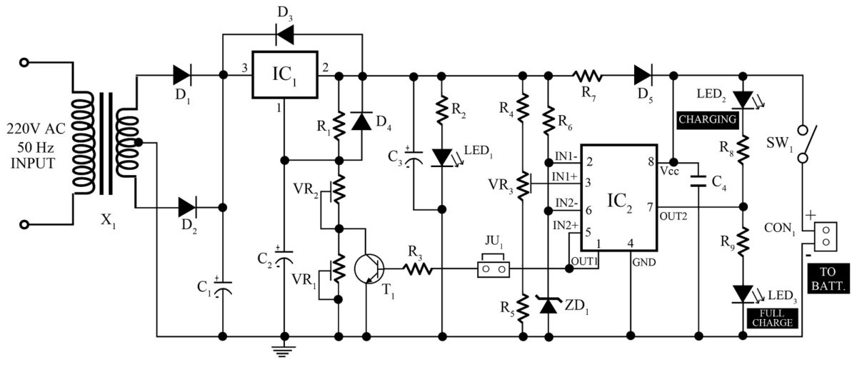 12v, 7Ah Smart Battery Charger with PCB Diagram  Best