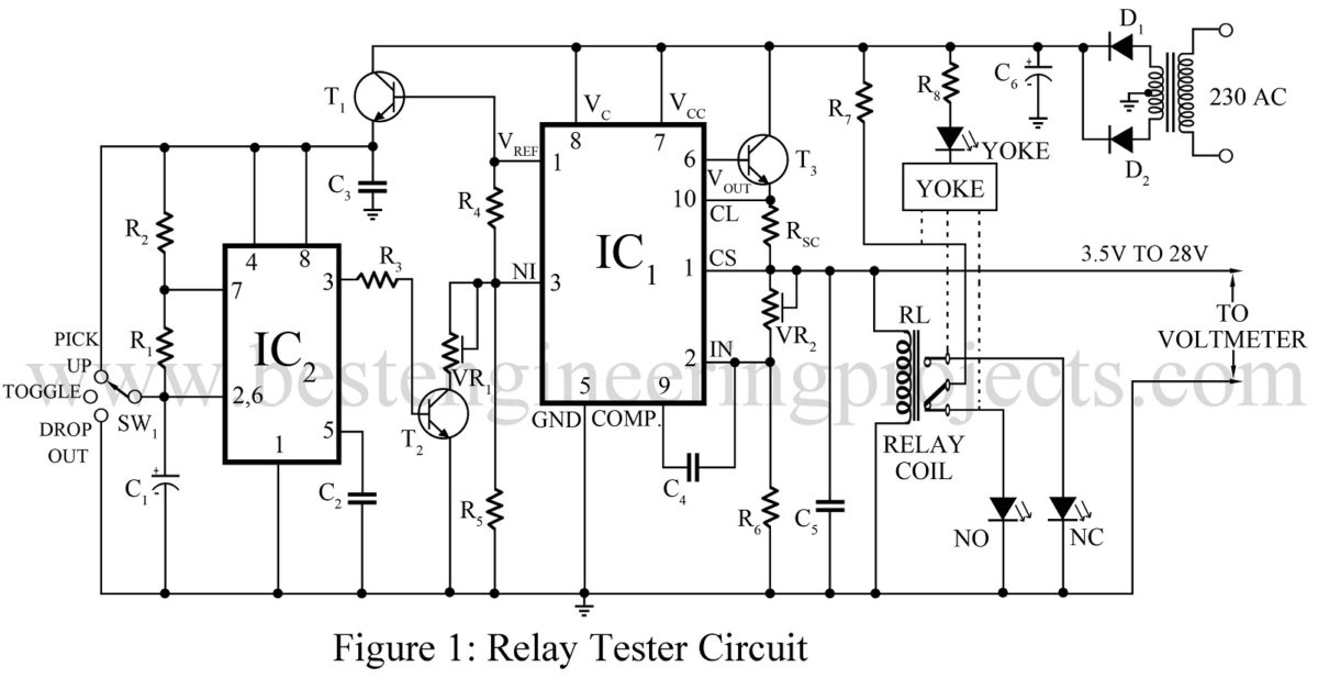 relay tester circuit best engineering projects rh bestengineeringprojects com Servo Tester Circuit relay tester circuit