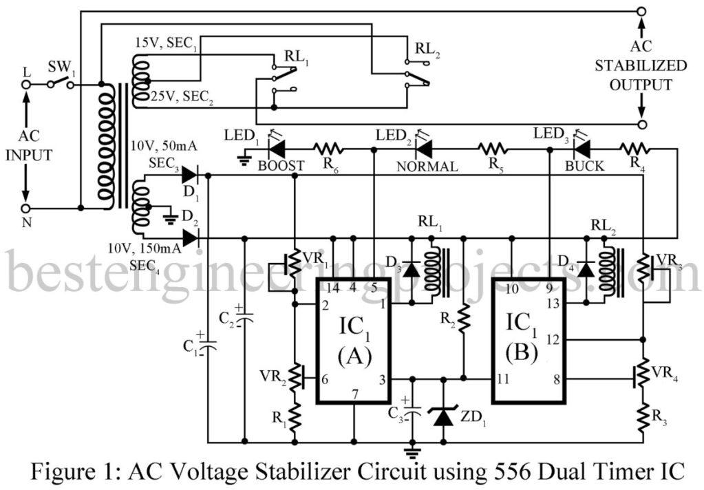 voltage regulator circuit diagram pdf
