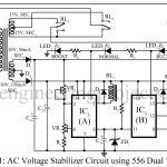 AC Voltage Stabilizer Circuit using 556 IC