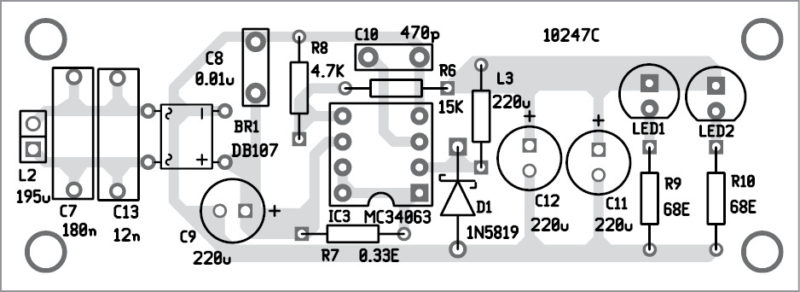 Wireless mobile charger circuit diagram best engineering projects figure 5 solder side pcb of mobile charger circuit diagram receiver ccuart Gallery